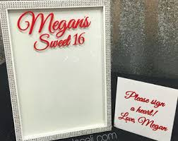 sweet 16 sign in book quince frame etsy