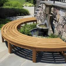 fsc certified teak curved backless garden bench