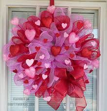 valentines wreaths how to make a deco mesh wreath crafty morning