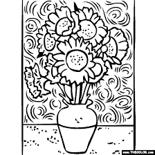 coloring page for van 100 free coloring page of vincent van gogh painting sunflowers