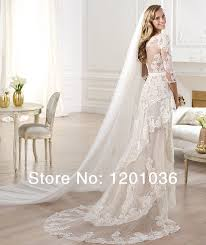 Low Cost Wedding Dresses Cheap 2015 Elie Saab Wedding Dresses Mermaid Scoop Cap Sleeve
