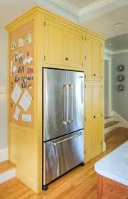 Best 25 Yellow Kitchen Cabinets Ideas On Pinterest Kitchen Best 25 Refrigerator Cabinet Ideas On Pinterest Spice Cabinets