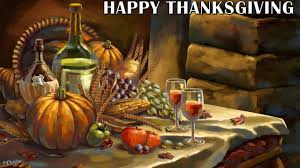 happy thanksgiving painting table pumpkin wine hd