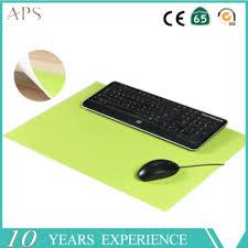 bureau en gros souris écologique en cuir reste tapis de souris bureau ensemble tapis de