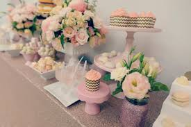 urban flower baby shower flowers a gold and pink party