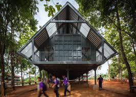 earthquake resistant on stilts by vin varavarn architects