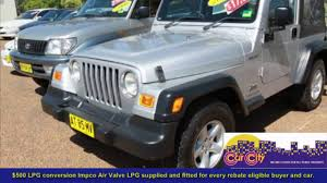 second hand peugeot dealers 2005 jeep wrangler sport 4x4 tj used cars sydney sydney used car