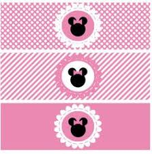 free pink minnie mouse birthday party printables chocolate bar