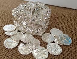 wedding arras silver plated arras para boda unity coins