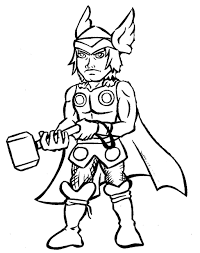 Thor Coloring Pages Coloringsuite Com Thor Coloring Page