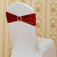 spandex chair sashes online shop elastic spandex chair bow sash stretch gold silver