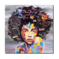 Modern Art Wohnzimmer Crescent Art Frauen Schwarze Kunst Afroamerikaner Gemälde