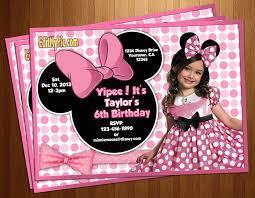 minnie mouse invitations custom made minnie mouse invitations minnie mouse pink polka dot