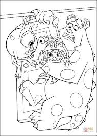 mike sulley boo coloring free printable coloring pages