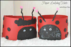 ladybug hat craft