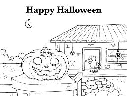 free halloween coloring pages haunted house vladimirnews me