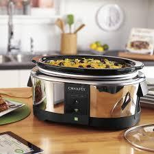 best crockpot deals black friday crock pot 6 quart wemo enabled smart slow cooker silver sccpwm600
