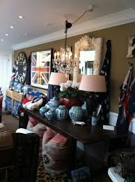union jack flags lots of blue u0026 white ginger jars kilim pillows
