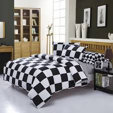 Black And White King Size Duvet Sets Home Textile Black And White Casal Bedding Sets Cover Sheet Pillow