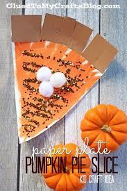 paper plate pumpkin pie slice kid craft pumpkin pies pies and craft