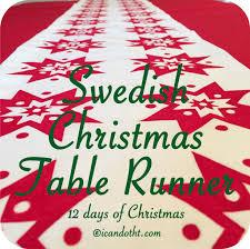 swedish christmas table runner u2013 i can do that