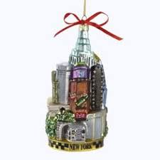 6 glittered freedom tower glass ornament tower ornament and glass