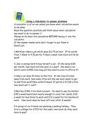 maths calculator problems ks3 worksheet by kctr teaching