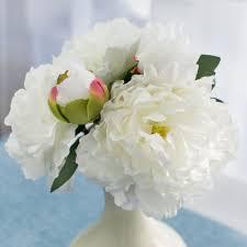 peony bouquet 11 white peony bouquet 5 35042cm craftoutlet