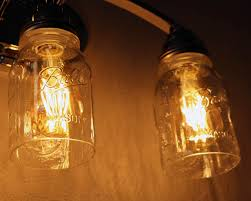 open bottom ball or kerr mason jar for lighting shade or crafts