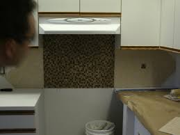 Installing Kitchen Tile Backsplash Pebble Stone How To Install Kitchen Tile Backsplash U2014 Decor Trends