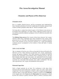 fire arson investigation manual fire sprinkler system combustion