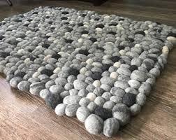 pebble rug pebble rug etsy