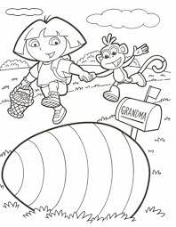 dora explorer coloring pages archives