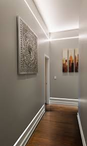 illuminate a hallway without ceiling fixtures or wall sconces