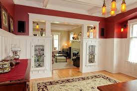Arts And Crafts Interior Stained Glass Door Panels Hall Craftsman With Arts And Crafts