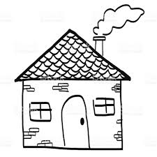 House Drawings by Hand Drawn House In A Sketch Cartoon Style Stock Vector Art