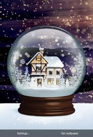snow globe live wallpaper android apps on play