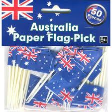 Aussie Flag Aussie Australian Flag Australia Day Pack Of 50 Party Cocktail