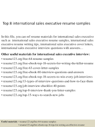 top 8 international sales executive resume samples 1 638 jpg cb u003d1431832999