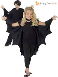smiffys bat vampire cape wings costume fancy dress halloween kids
