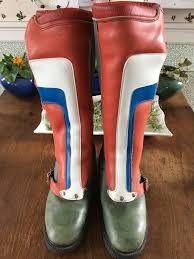 leather dirt bike boots vintage 1970 captain america motocross boots mens size 7 womens