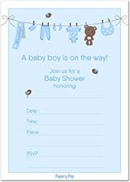 50 fill in baby shower invitations baby shower
