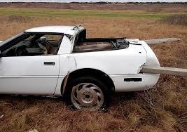 corvette car crash driver escapes injury in sunday corvette crash in katama the