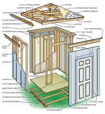 Gambrel Roof Barn Plans 6 6 Shed Plans U0026 Blueprints For Building A Hip Roof Tool Shed
