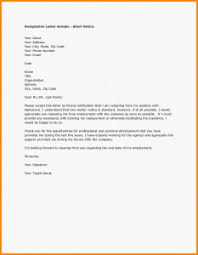 short letter of resignation template example letter of resignation designproposalexample com a image