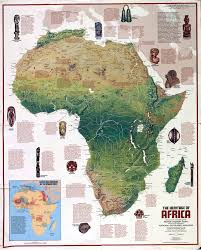 Nat Geo Maps Africa Physical Map Full Size