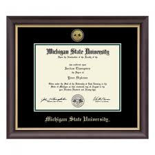 michigan state diploma frame michigan state spartans diploma frames cus den