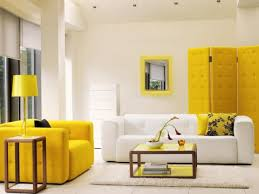 incridible paint colors for living rooms with yellow sofa from how