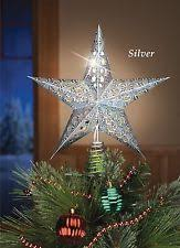 Star Christmas Tree Toppers Lighted - christmas tree toppers 1946 1990 ebay