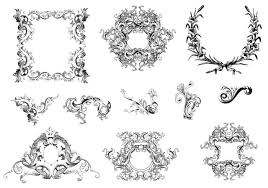 leafy frames and ornaments brush pack free photoshop brushes at